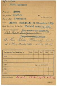 Henri MATISSE expose de 1901 - 1934